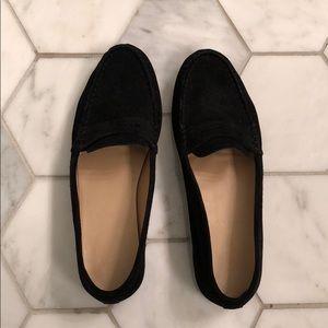 J. Crew Black Loafers